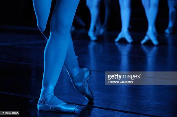 step dance - het zwanenmeer ballet stockfoto's en -beelden