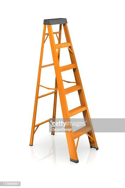 step ladder ready to help you reach new heights - step ladder stock photos and pictures