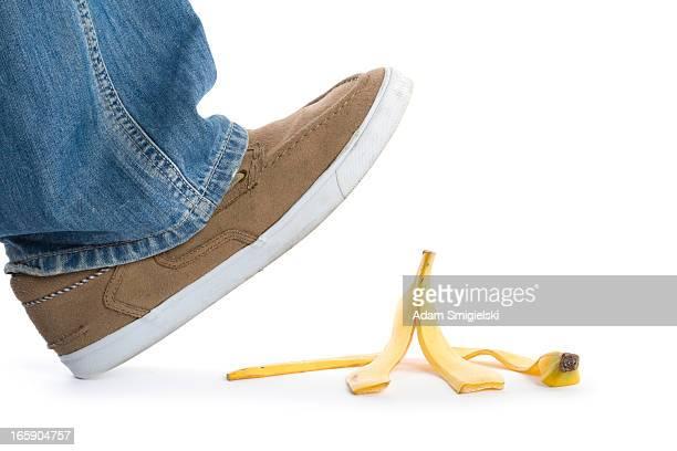 ステップをバナナの皮