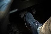 Step on the car brake