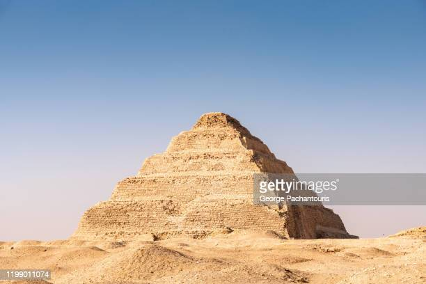 step pyramid of djoser in saqqara, egypt - saqqara stock pictures, royalty-free photos & images