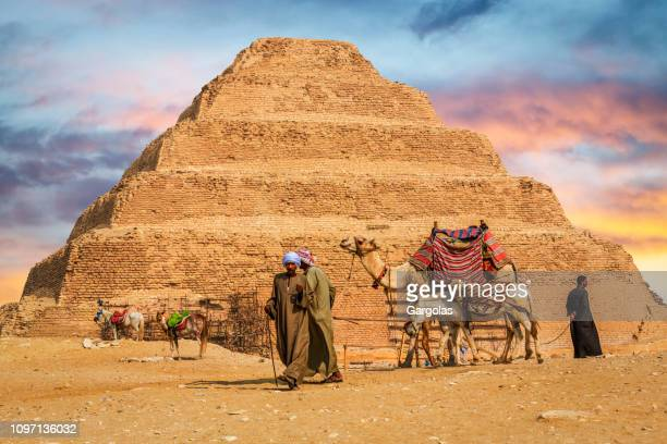 step pyramid of zoser in saqqara, egypt - saqqara stock pictures, royalty-free photos & images