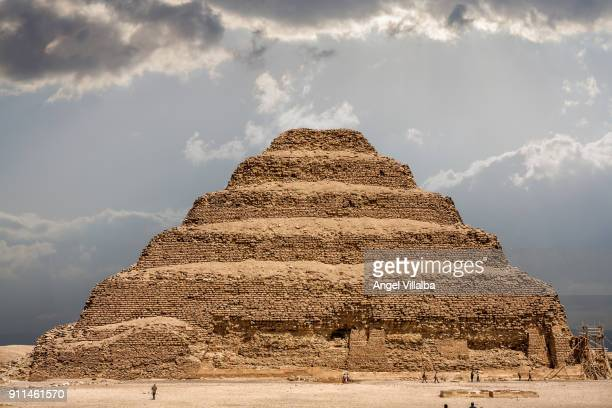 step pyramid of zoser - saqqara stock pictures, royalty-free photos & images
