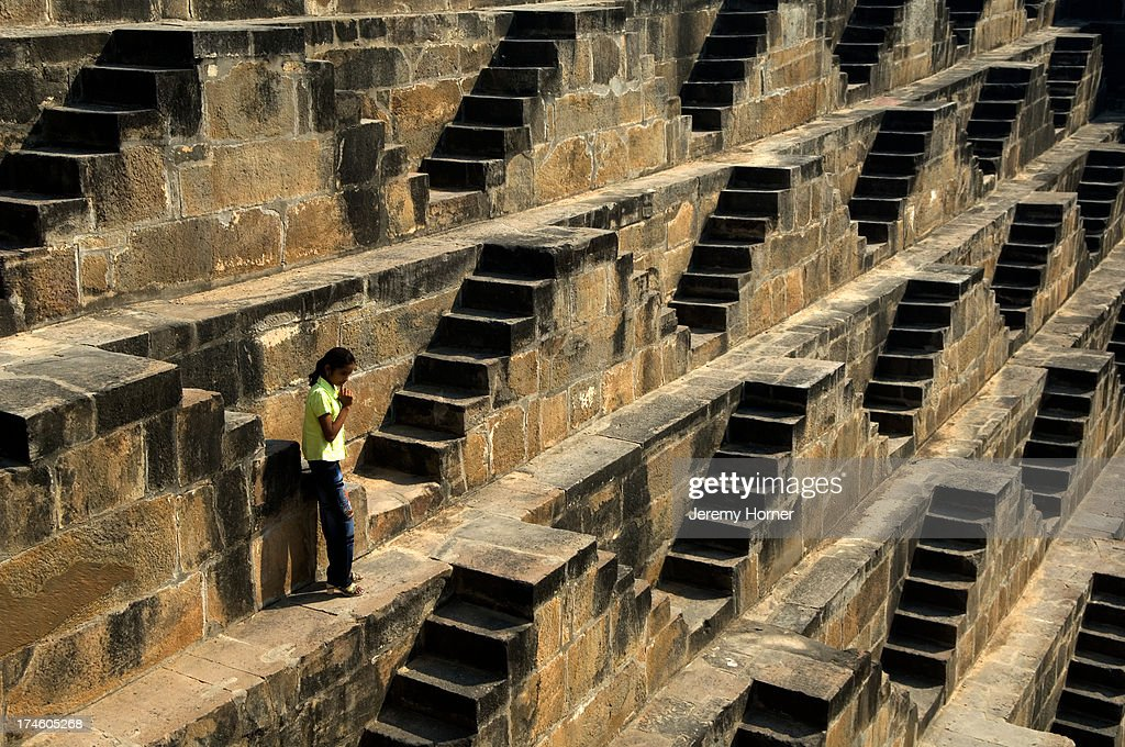 Step well outside Jaipur, Rajasthan... : News Photo