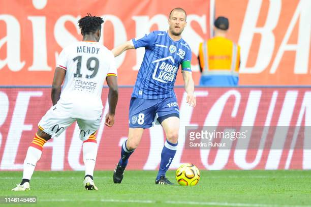 Stepahen Darbion of Troyes during the Ligue 2 match between Troyes and Lens on May 24 2019 in Troyes France
