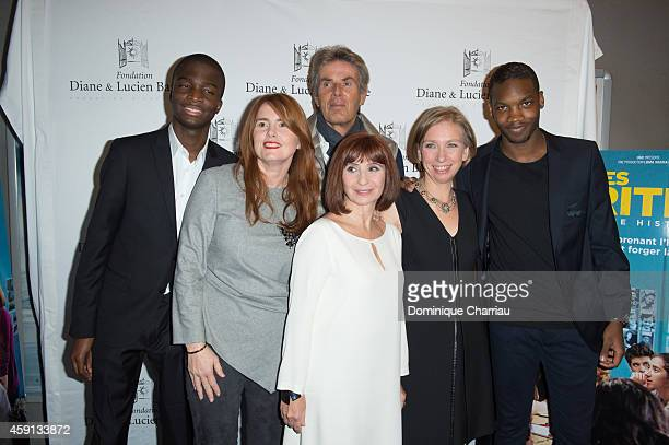 Stepahne Bak Director MarieCastille MentionSchaar Dominique Deseigne Ariane Ascaride Anne Angles and Ahmed Drame attend 'Les Heritiers' Premiere...