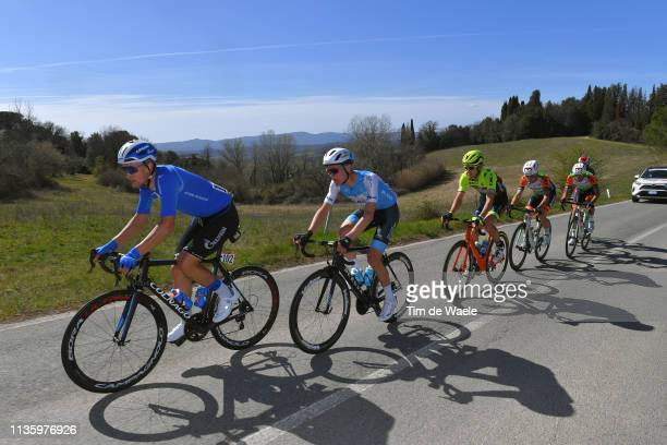 Stepan Kuriyanov of Russia and Team Gazprom - Rusvelo / Alexander Cataford of Canada and Team Israel Cycling Academy / Alessandro Tonelli of Italy...