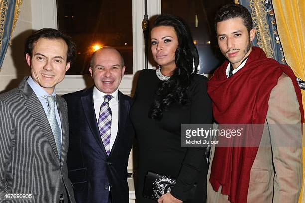 Stepane Ruffier Meray Laurent Marie Affre SAR Princesse Kasia Al Thani and Stefan D'Angieri attend 'The Children for Peace' Gala At Cercle Interallie...
