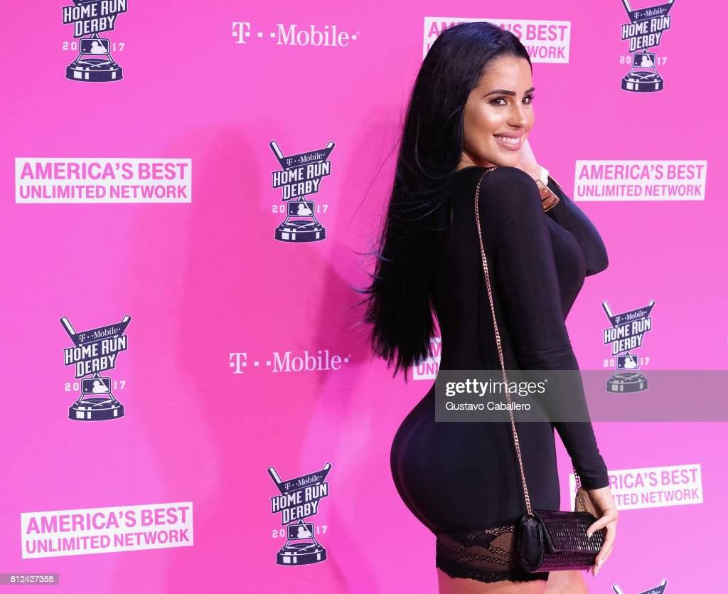 Steph Acevedo arrives at the T-Mobile Presents Derby After Dark at Faena Forum on uly 10, 2017 in Miami Beach, Florida.