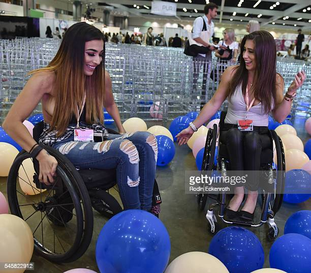Steph Aiello and Chelsie Hill at the 4th Annual Beautycon Festival Los Angeles at Los Angeles Convention Center on July 9 2016 in Los Angeles...
