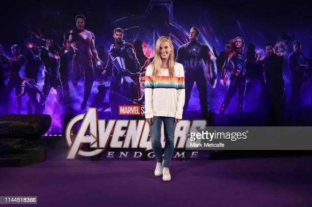 Steph Bendixen attends the Sydney screening of Avengers End Game at Hoyts Entertainment Quarter on April 23 2019 in Sydney Australia