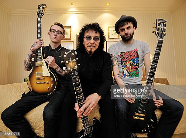 Steph Carter Tony Iommi and Laurent Barnard taken on April 7 2009 in London Iommi was the guitarist of seminal heavy metal group Black Sabbath and...