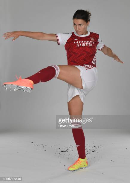 Steph Catley of Arsenal during the Arsenal Women's Photocall at London Colney on August 12, 2020 in St Albans, England.