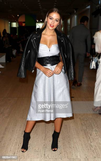 Steph Claire Smith attends the Ginger Smart show at MercedesBenz Fashion Week Resort 18 Collections at Art Gallery of New South Wales on May 17 2017...