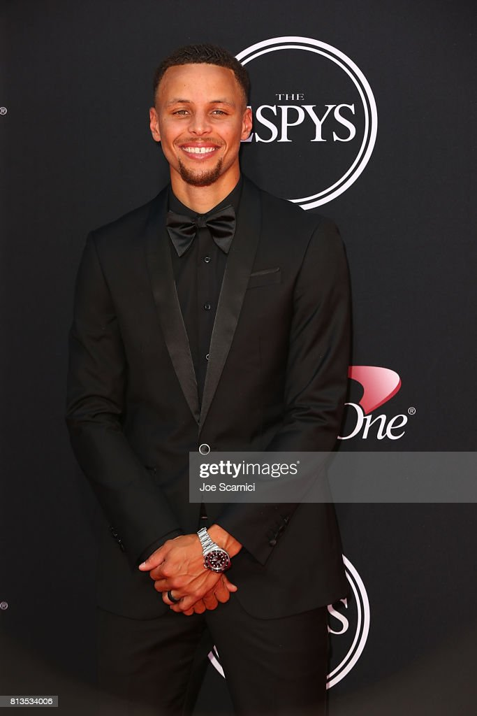 Steph Curry arrives at the 2017 ESPYS at Microsoft Theater on July 12, 2017 in Los Angeles, California.