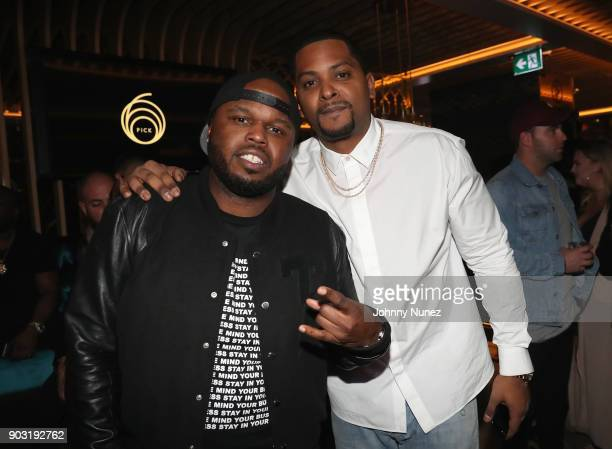 Steph Floss and Chubbs attend as Lebron James hosts Dwyane Wade's Birthday with The House Of Remy Martin at Drake's New Pick 6ix Restaurant on...