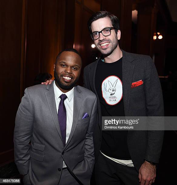 Steph Floss and GQ Style Editor Will Welch attend GQ and LeBron James Celebrate AllStar Style on February 14 2015 in New York City