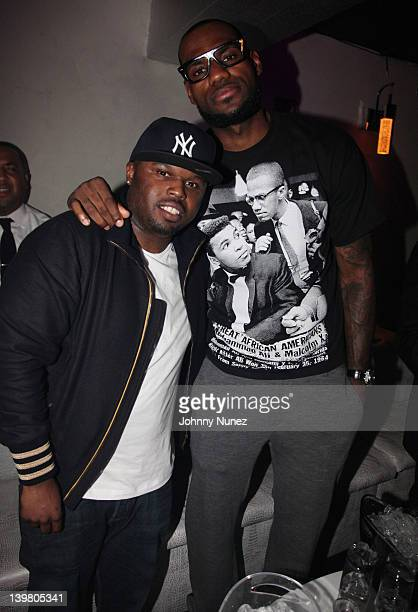 DJ Steph Floss and LeBron James attend Ball So Hard All Star Weekend Party on February 24 2012 in Orlando Florida