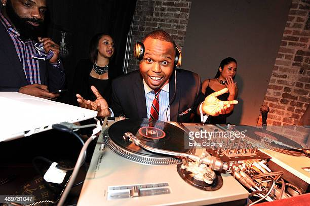 Steph Floss wearing Beats by Dr Dre headphones attends GQ LeBron James NBA All Star Party sponsored by Samsung Galaxy and Beats at Ogden's Museum's...