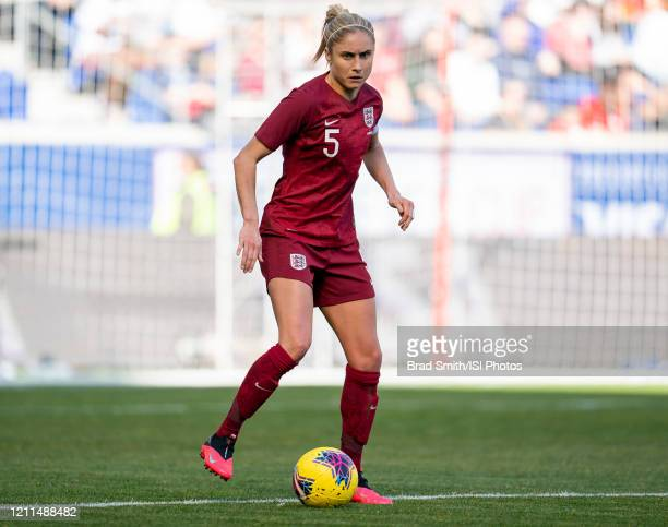 Steph Houghton of England dribbles during a game between England and Japan at Red Bull Arena on March 08 2020 in Harrison New Jersey