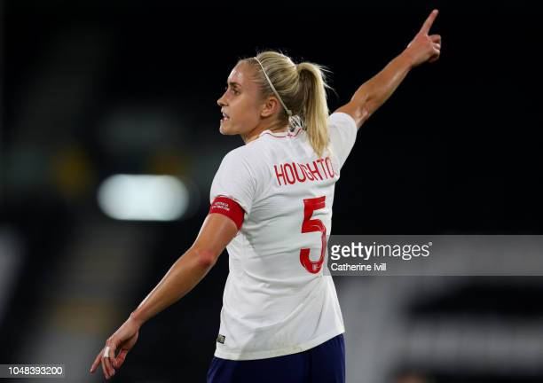 Steph Houghton of England during the International Friendly between England Women and Australia Women at Craven Cottage on October 9 2018 in London...