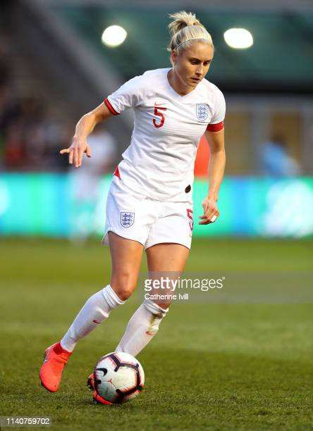 Steph Houghton of England during the International Friendly between England Women and Canada Women at The Academy Stadium on April 05, 2019 in...
