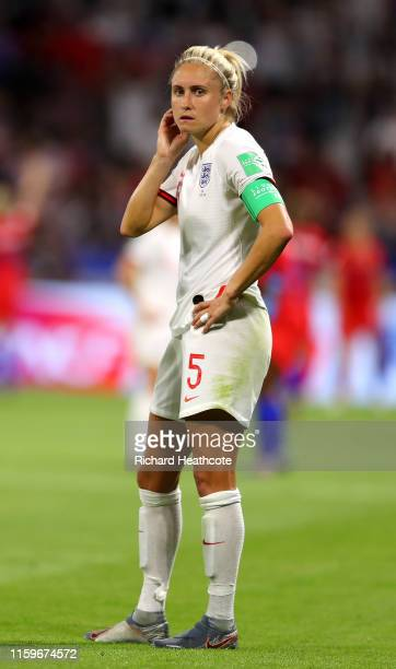 Steph Houghton of England looks dejected following the 2019 FIFA Women's World Cup France Semi Final match between England and USA at Stade de Lyon...