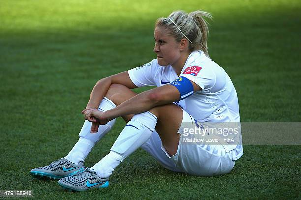 Steph Houghton of England looks on after her team lost to Japan during the FIFA Women's World Cup 2015 Semi Final match between Japan and England at...