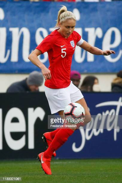 Steph Houghton of England plays in the 2019 SheBelieves Cup match between USA and England at Nissan Stadium on March 2, 2019 in Nashville, Tennessee.