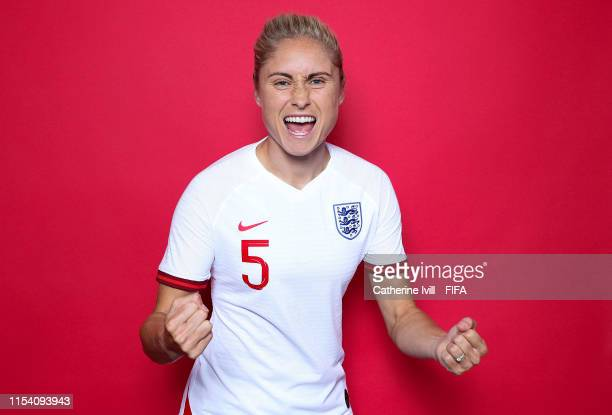 Steph Houghton of England poses for a portrait during the official FIFA Women's World Cup 2019 portrait session at Radisson Blu Hotel Nice on June 06...