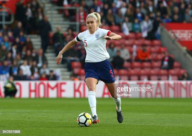Steph Houghton of England Women during 2019 FIFA Women's World Cup Group 1 qualifier match between England and Wales at StMary's Southampton FC...