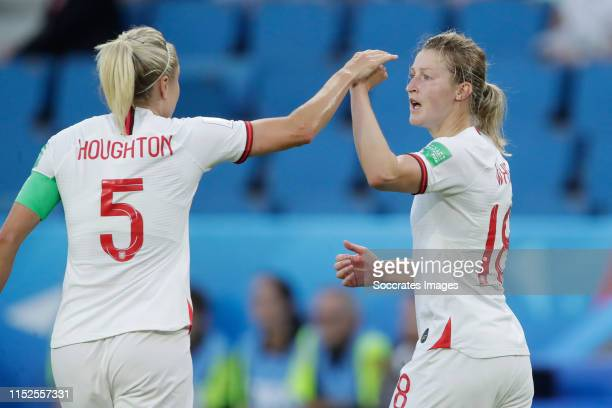 Steph Houghton of England Women Ellen White of England Women during the World Cup Women match between Norway v England at the Stade Oceane on June 27...