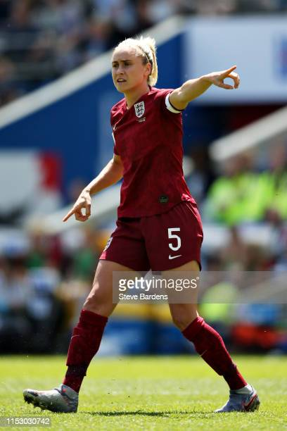 Steph Houghton of England Women gestures during the International Friendly between England Women and New Zealand Women at Amex Stadium on June 01...