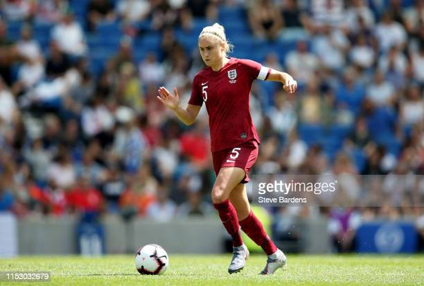 Steph Houghton of England Women in action during the International Friendly between England Women and New Zealand Women at Amex Stadium on June 01...