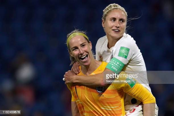 Steph Houghton of England Women Karen Bardsley of England Women during the World Cup Women match between Norway v England at the Stade Oceane on June...