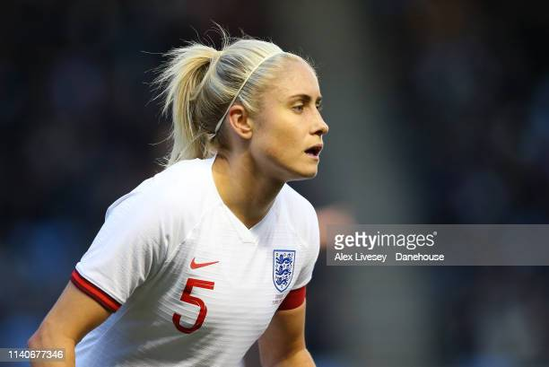 Steph Houghton of England Women looks on during the International Friendly between England Women and Canada Women at The Academy Stadium on April 05...
