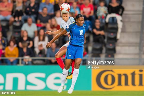 Steph Houghton of England women MarieLaure Delie of France women during the UEFA WEURO 2017 quarter finale match between England and France at The...