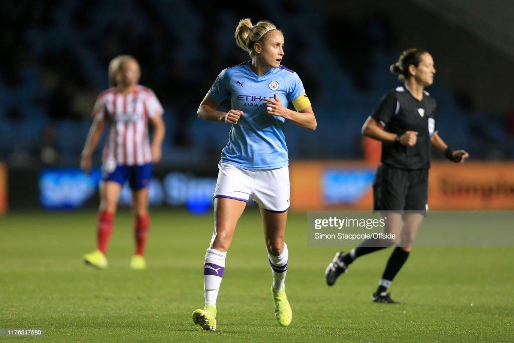 Manchester City Women v Atletico Madrid Femenino - UEFA Women's Champions League Round of 16: First Leg : News Photo