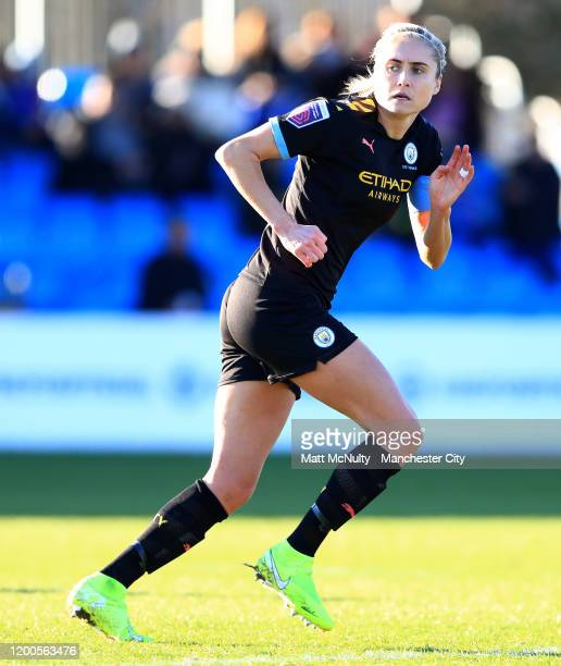 Steph Houghton of Manchester City during the Barclays FA Women's Super League match between Birmingham City and Manchester City at Damson Park on...