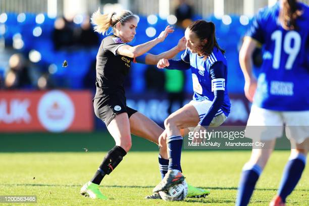 Steph Houghton of Manchester City in action during the Barclays FA Women's Super League match between Birmingham City and Manchester City at Damson...