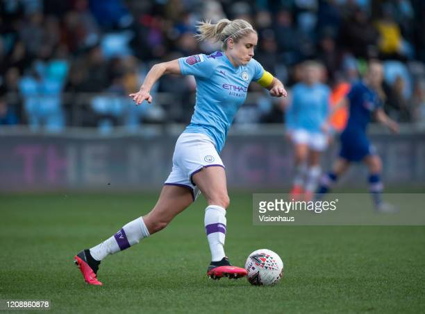 Steph Houghton of Manchester City in action during the Barclays FA Women's Super League match between Manchester City and Chelsea at The Academy...