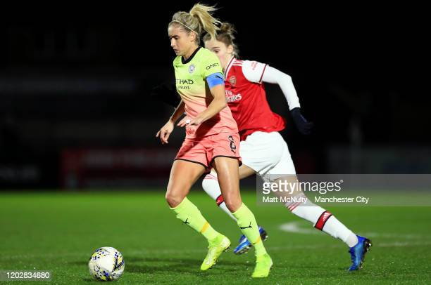 Steph Houghton of Manchester City in action during the FA Women's Continental League Cup SemiFinal match between Arsenal Women and Manchester City...