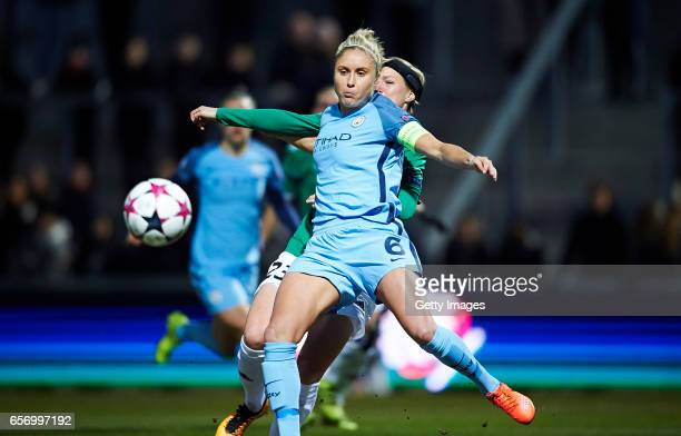 Steph Houghton of Manchester City in action during the UEFA Women's Champions League match between Fortuna Hjorring and Manchester City at Bredband...