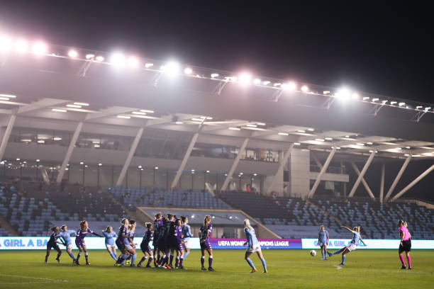 GBR: Manchester City WFC v ACF Fiorentina  - Women's UEFA Champions League Round Of 16 Leg One