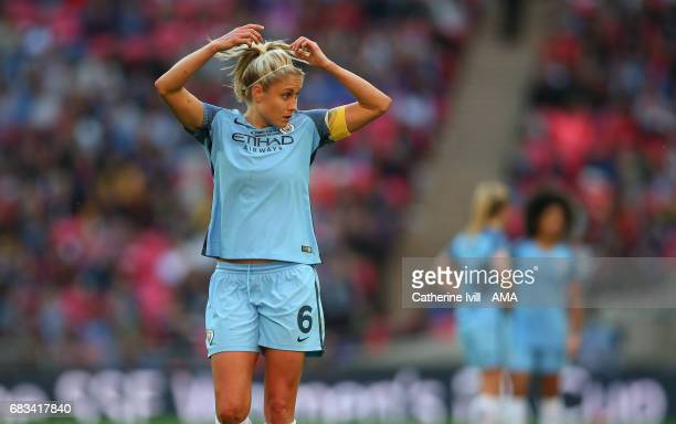 LONDON ENGLAND MAY 13 Steph Houghton of Manchester City Women during the SSE Women's FA Cup Final between Birmingham City Ladies and Manchester City...