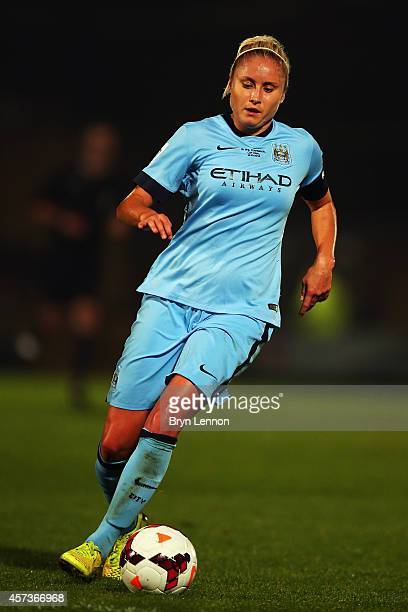 Steph Houghton of Manchester City Women in action during the FA WSL Continental Cup Final between Arsenal Ladies and Manchester City Ladies at Adams...