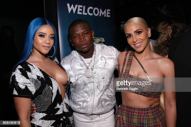 Steph Lecor OT Genasis and Veronica Vega attend the BET Hip Hop Awards 2017 at The Fillmore Miami Beach at the Jackie Gleason Theater on October 6...