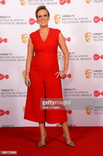 Steph McGovern poses in the press room at the Virgin TV British Academy Television Awards at The Royal Festival Hall on May 13 2018 in London England