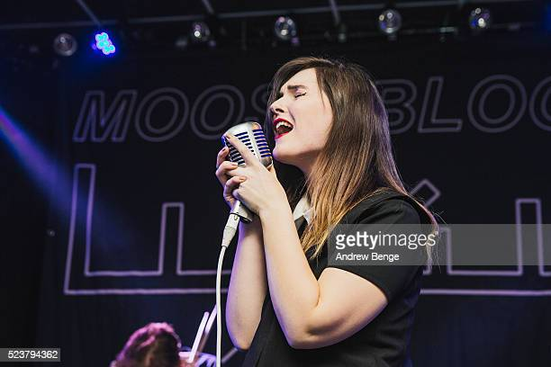 Steph O'Sullivan of Greywind performs on stage at Brudenell Social Club on April 18, 2016 in Leeds, England.