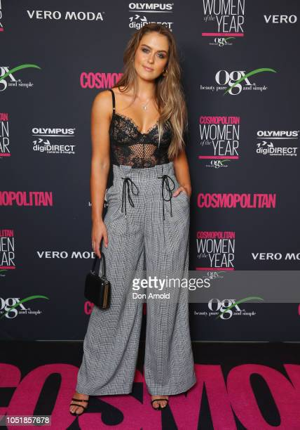 Steph Smith attends the COSMOPOLITAN Women Of The Year Awards 2018 on October 11 2018 in Sydney Australia